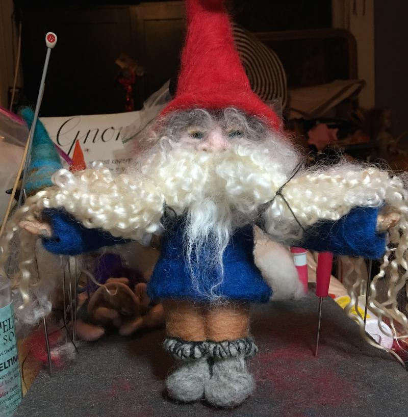 Gnome Needle Felting